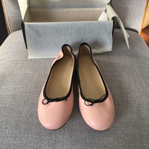 fd86873a9 J. Crew Shoes | J Crew Evie Ballet Flats In Leather Iced Peach ...
